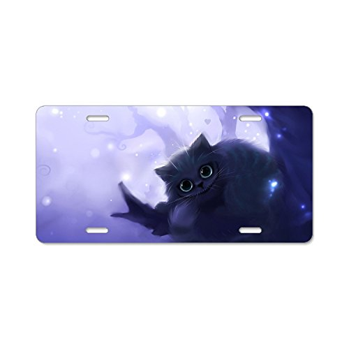 Elvira Jasper Fashion Design Cool Plate Tag Cheshire Cat Car License Plate With 4 Holes - 12