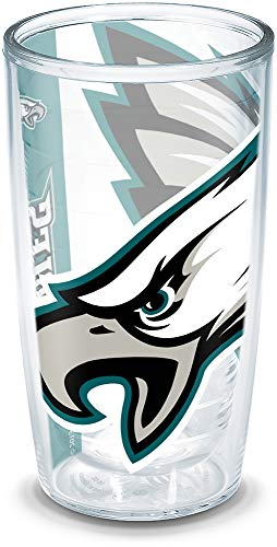 Tervis NFL Philadelphia Eagles Colossal Wrap Individual Tumbler, 16 oz, Clear ()