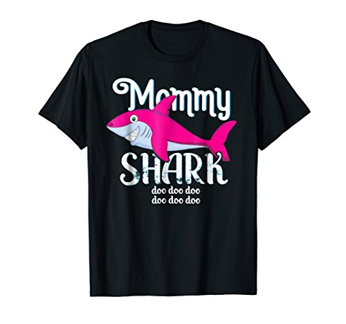 Mommy Shark T-Shirt Mother Grandma Xmas Christmas Gift