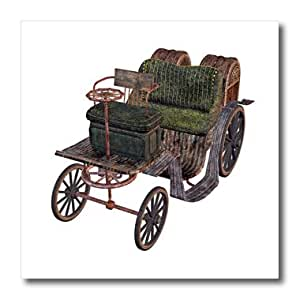 ht_179986_3 Boehm Graphics Car - A classic steam carriage vehicle - Iron on Heat Transfers - 10x10 Iron on Heat Transfer for White Material