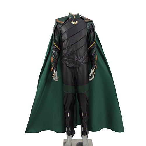 Expeke Adults 2017 Movie Costume Battle Suit Cosplay (Men M, Loki Fullset)
