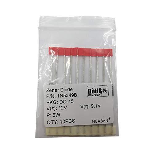 10PCS 1N5349B 1N5349 Power Zener Diode 5W 12V T-18 (CASE17-02) Axial Diodes 5 Watt 12 Volt