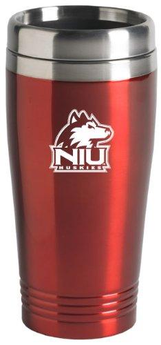 Northern Illinois University - 16-ounce Travel Mug Tumbler - Red