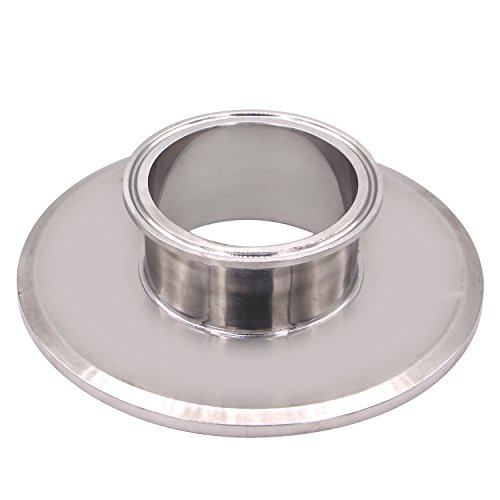 DERNORD Sanitary Concentric Reducer Tri Clamp Clover Stainless Steel 304 Sanitary Fitting End Cap Reducer (Tri Clamp Size: 6 inch x 3 inch)