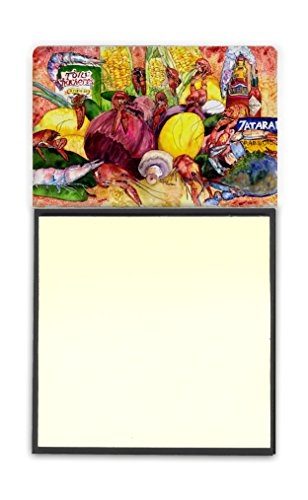 Caroline's Treasures Crawfish with Spices & Corn Sticky Note Holder, Multicolor (8698SN)