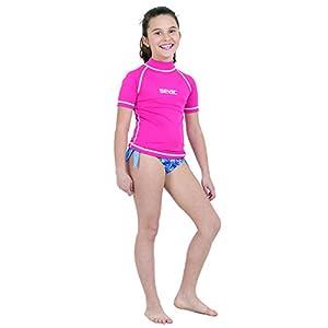 SEAC T-Sun Short, Maglia Protettiva Rash Guard per Snorkeling e Nuoto Anti UV Unisex Bambini 3 spesavip