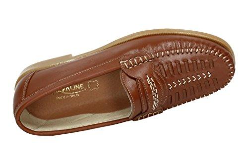 CALZALINE 105-P Mocasín de Piel Hombre Zapatos Mocasín CUERO