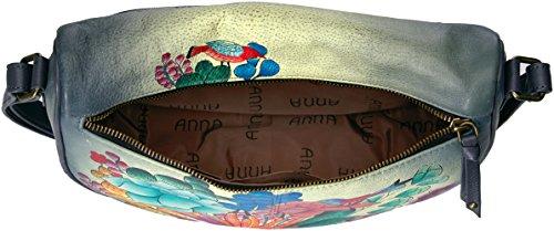 Cross Body Handpainted Dreams Succulent Dreams Anna Succulent Leather Medium Anuschka qPICc