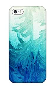 Durable Defender Case For Iphone 5/5s Tpu Cover(ice-flowers)