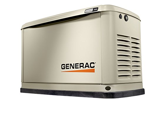 Generac 70291 Home Standby Generator Guardian Series 9/8kW Air-Cooled with Wi-Fi, Aluminum