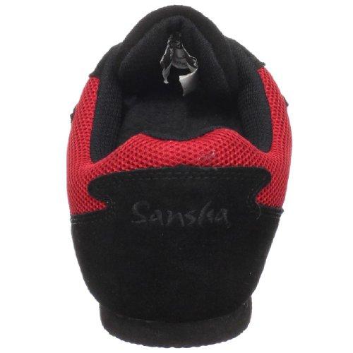 Sansha Salsette 1 Jazz Sneaker Rood / Zwart
