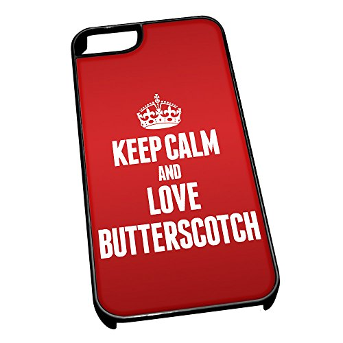 Nero cover per iPhone 5/5S 0884 Red Keep Calm and Love Butterscotch