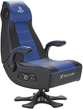 X Rocker Infiniti 2.1 - Silla gaming, color negro y azul
