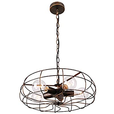 Unitary Brand Vintage Barn Copper Metal Hanging Ceiling Chandelier Max. 200W with 5 Lights Painted Finish - High quality,2 years guarantee. Installation type:Hardwired. Product Dimensions:44.09x18.5x18.5 inches.Suggested Space Size:20-25Sq.m.It's the perfect light fixture to install in kitchen,dining room,living room,foyers and more. Voltage:120V for North America.Max. Power:40Wx5 (bulbs not included) - kitchen-dining-room-decor, kitchen-dining-room, chandeliers-lighting - 41Ri6N%2BxOKL. SS400  -