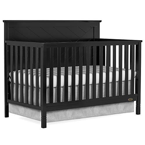 Dream On Me Skyline 5 In 1 Convertible Crib, Black