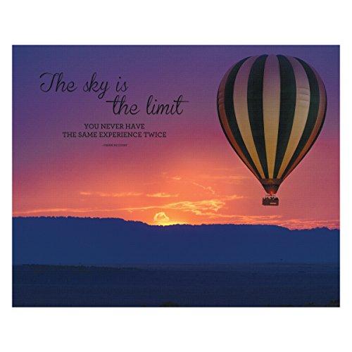 ADVANTUS Canvas Motivational Print, Sky is The Limit, 22 x 28 Inches, Multicolored - Motivational Poster Advantus