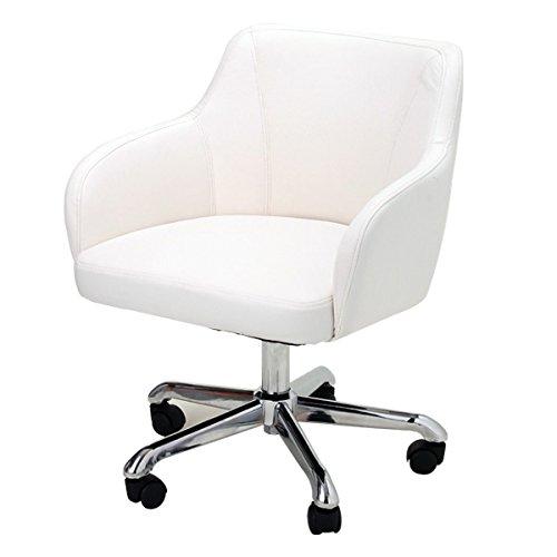 スタイリッシュ ネイル チェア B-01 ホワイト [ ラウンジチェア ネイルスツール ネイル椅子 ネイルイス ネイルチェア 昇降式 キャスター付き サロン スツール イス 椅子 チェア ] B015SDH9XY Parent ホワイト