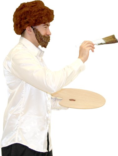 Painter Halloween Costume (80's Retro Painter Wig & Beard Costume Set)