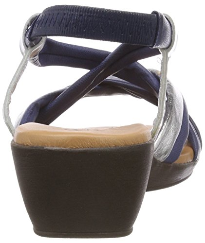 Conti Dunkelblau Women's Heels 135 Kombiniert Multicolour Sandals Andrea 0145710 dqZxda