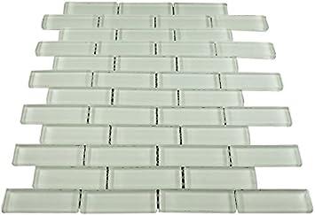 Super White Glass Mosaic Tile for Bathroom and Kitchen Walls Kitchen Backsplashes by Vogue Tile