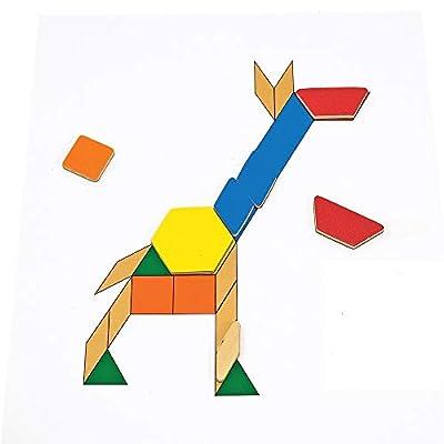 Melissa & Doug Deluxe Magnetic Pattern Blocks Set: Melissa & Doug: Toys & Games