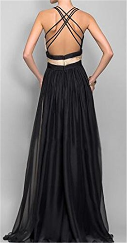 Pleated Splice V Dress Swing Rise Womens Block Neck Black High Cromoncent Sleeveless Color RqzYwIB