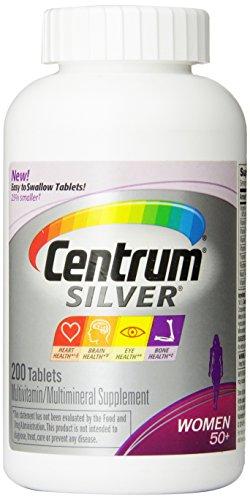 Centrum Silver píldoras de las mujeres 50 +, cuenta 200