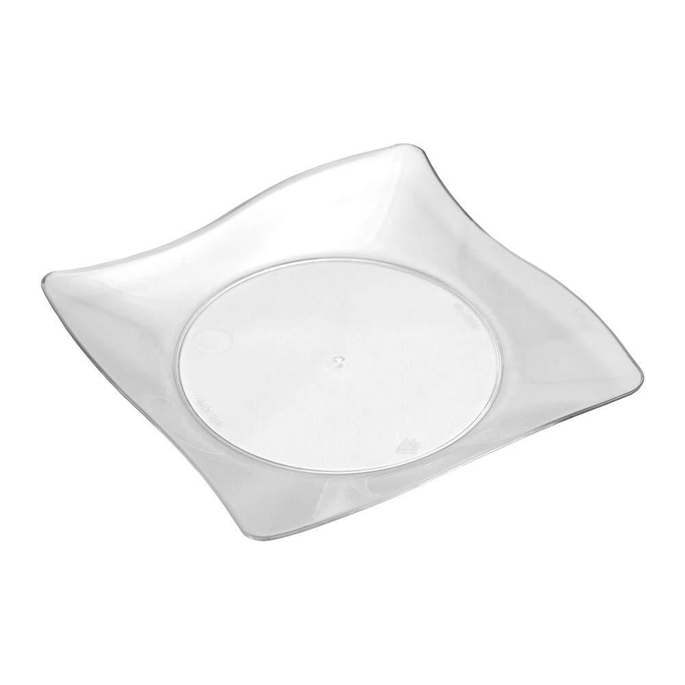 WNA APTSQ4 Petites Square Plastic Plates, 4