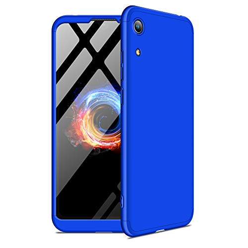Hovisi 3 in1 Anti-Scratch Shockproof Electroplate Frame with Non Slip Coated Case for Honor Play 8A (Barcelona Blue, Honor Play 8A 6.01