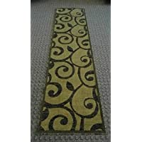 Modern Runner Rug Design #154 Sage Green (32 In. X 10 Ft.)