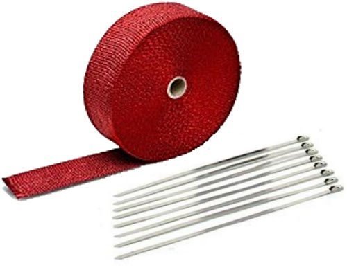 RED LAVA EXHAUST PIPE HEAT WRAP 2