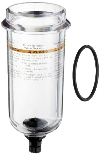 Parker PS832P Polycarbonate Bowl with Twist Drain for 07F, 12F, 07E Series Filter/Regulator, 7.2oz Capacity, 150 psig by Parker