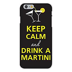 Apple iphone 5c Custom Case White Plastic Snap On - Keep Calm and Drink a Martini