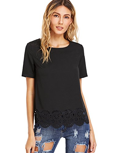 Женские футболки ROMWE Women's Short Sleeve