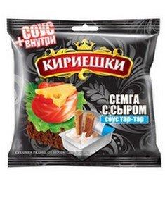 Brotchips Kirieschki mit Käse-Lachs-Geschmack & Maionnaise-Sauce Tar-Tar 10 Packungen (10 x 85g)