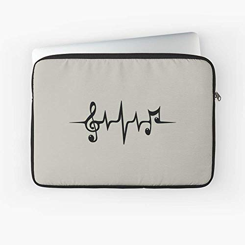 - Music Pulse Heartbeat Notes Clef Frequency Wave Sound Festival Laptop Sleeve - 13 Inch and 15 Inch - Best Gift for Family Friends