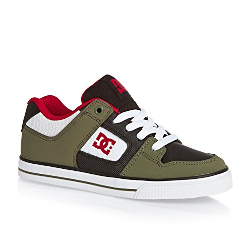 Pure Sneakers Shoes OLIVE DC Garçon BLACK Basses 4qUx5w5T