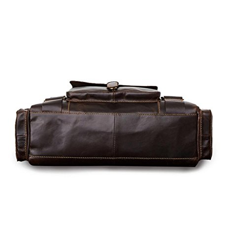 Briefcases Bags Messenger Large Capacity Men's Sucastle Leather Design Vintage Shoulder 1 nxq6T1Tp