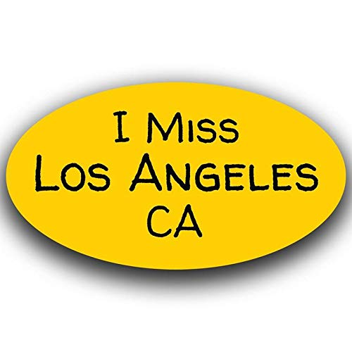 One 5.5 Inch Decal More Shiz Yellow I Miss Los Angeles California Decal Sticker Travel Car Truck Van Bumper Window Laptop Cup Wall MKS0486