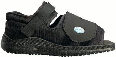 Corflex Med-Surg Post Op Rocker Bottom Shoe-L-Women - Black