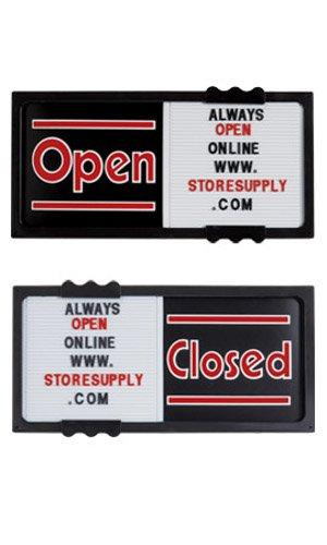 Plastic Horizontal Black Open/Closed Sliding Sign Board 20'W x 10'H x ¾' Thick