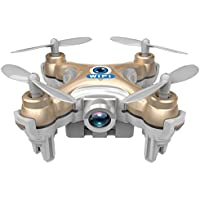 paterJOY Cheerson CX-10W WiFi Mini Drone with 0.3MP FPV Camera 2.4G 6-Axis Gyro Real Time RC Quadcopter (Gold)