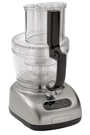 Factory Reconditioned KitchenAid RKFP750NK 12-Cup Food Processor, Nickel