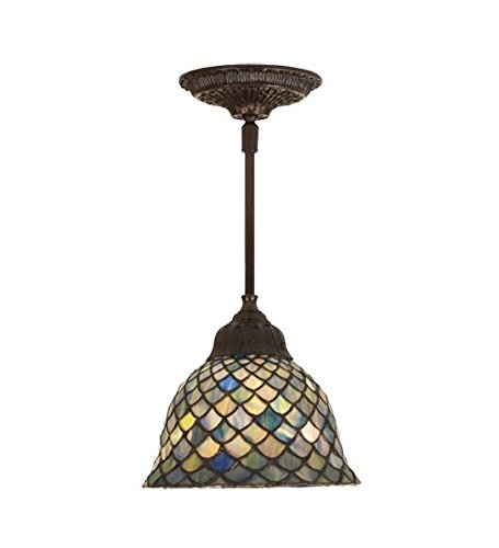 Meyda Tiffany 98823 Fishscale Mini Pendant Light Fixture, 8
