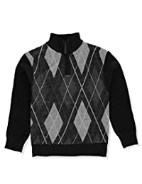 American Legend Outfitters Little Boys' Zip Collar Sweater