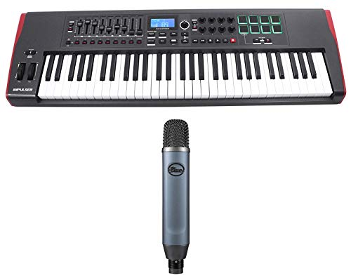 Novation IMPULSE 61 Ableton 61-Key MIDI USB Keyboard Controller+Blue Ember Mic