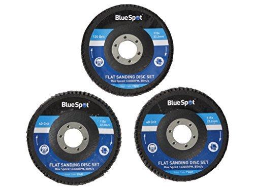blu Spot 19642 4 1 2-inch Flat Sanding Disc (3 Pieces) by blu Spot Tools