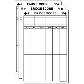 "Amazon.Com : Chicago Bridge Score Pad 5.5"" X 8.5"" 50-Sheets : Memo"