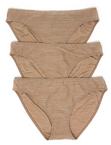 Victoria's Secret Everyday Perfect Bikini Panty Set of 3 Small Nude Streak/Nude Streak/Nude Streak