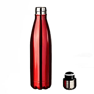 Homeditor Insulation Stainless Steel Water bottle 17oz Double Wall Vacuum Travel Mug for Camping Hiking Cycling Outdoor Sports Festival and Anniversary Gift (Wine)
